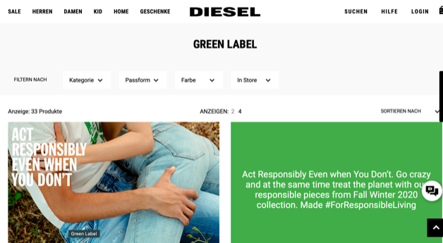 Screenshot Diesel Jeans